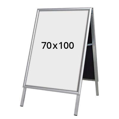 A-Skilt gadeskilt med snapramme 100x70