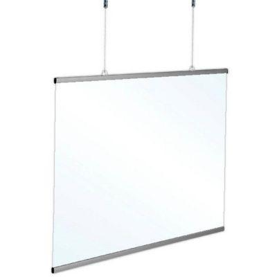 Hygiejneskærm til ophængning 120x70 cm