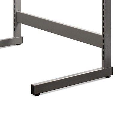 Afstandsstykke i grå titan lak - passer til alle vores L- og T-søjler - 120 cm