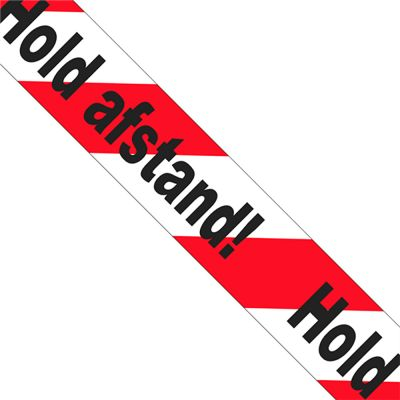 Hold Afstand tape | 66 meter pr rulle |