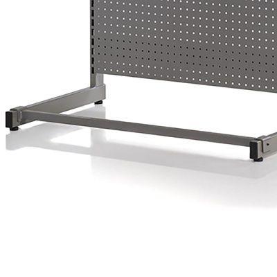 Afstivningsbom - grå robust mørkegrå pulverlakeret metallic lakpasser til både 90 og 120 cm butiksmoduler