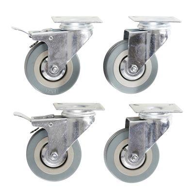 Apparathjul med plade Ø75 mm | 4 stk |