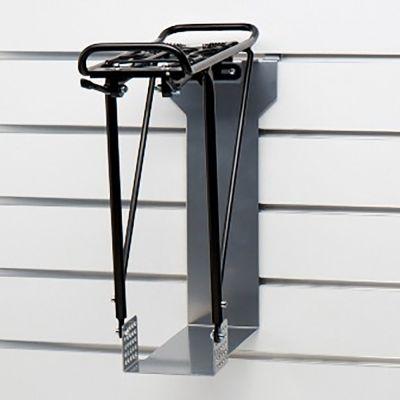 Bagagebære holder i grå lak til panelplade - fremstillet i kraftig stålplade