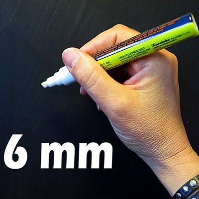Board Marker / tusser i 6 mm, hvid.