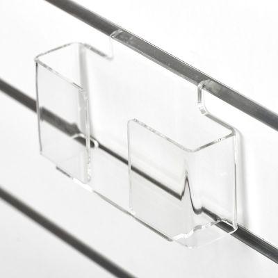 Brochureholder i opbukket klar akryl for rilleplader - A6 liggendepasser også som postkortholder