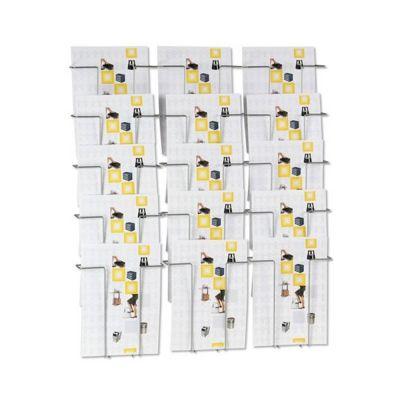 Brochureholder til væg for 15 x A4