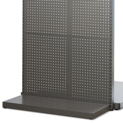 Bundplade for gavlramme i grå metallic lak - dybde 35 cm
