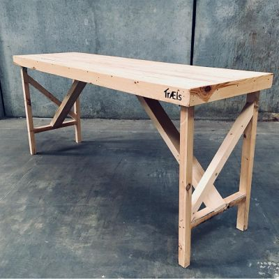 Salgsbord - Oplægsbord i rå genbrugstræ