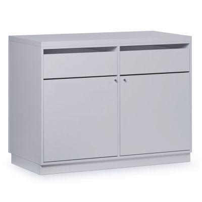 Butiksdisk i hvid inkl. topplade i hvid slidstærk laminat samt 2 skuffer og 2 lågermål længde 120 cm - diskdybde 60 cm - højde 92,5 cm