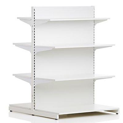 Butiksreol - dobbeltsidet - 2-sidet hvid