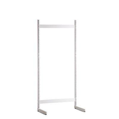 Gondol i hvid - H200xB90 cmbestår af afstandsstykker, inventarsøjler og L-ben