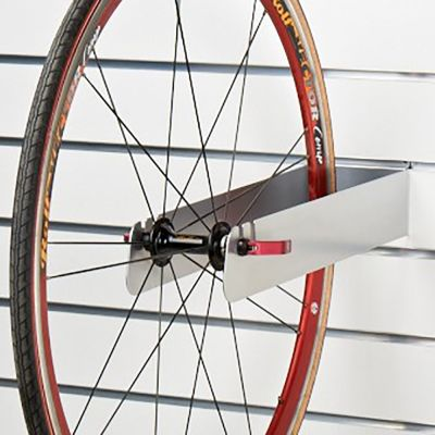 Cykelhjul holder for panelplade - overflade i grå alu lak