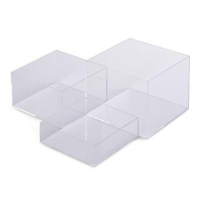 Akryl æsker - plast bokse i klar plexi |