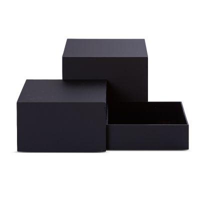 Plast æsker - akryl bokse i sort plexi |