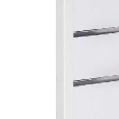 Hvid sideliste til rillepanelmål 2,0x2,0 cm og længde 240 cm