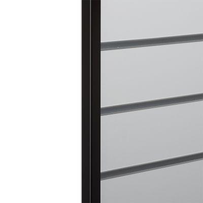 Endeafslutning sort 2x2 cm til slatwall