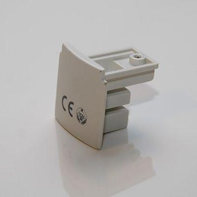 Endestykke - hvid strømskinne tilbehør - bruges til afslutning af strømskinne