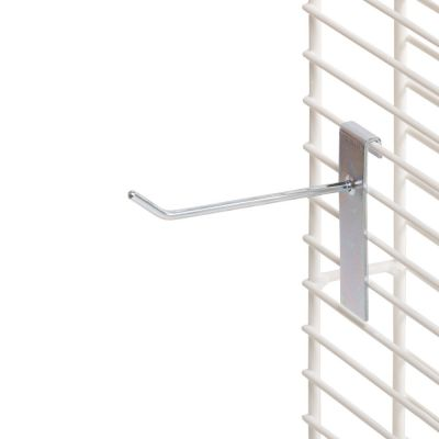 Varekrog i zink og rund fortil - enkelt for trådnet L15 cm - trådtykkelse Ø6 mm