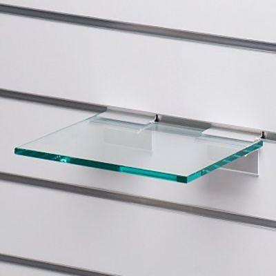 Glashylde i klart glas til rillepanel - findes i 3 forskellige farvermål L25xD21 cm - tykkelse 8 mm