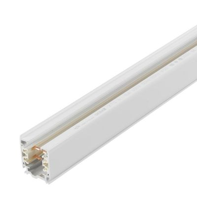 Strømskinne 3 m hvid lak - 3-faset i 230 V