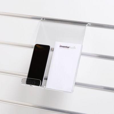 Holder for mobiltelefoner for rillepaneler - passer til de fleste smartphones - mulighed for A6 skilt