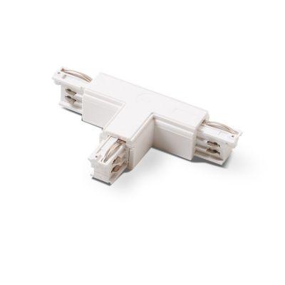 T-stykke - højre pol - indvendig / udvendig i hvid