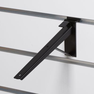 Hyldeknægt for rillepanel skrå i sort - 21 cm