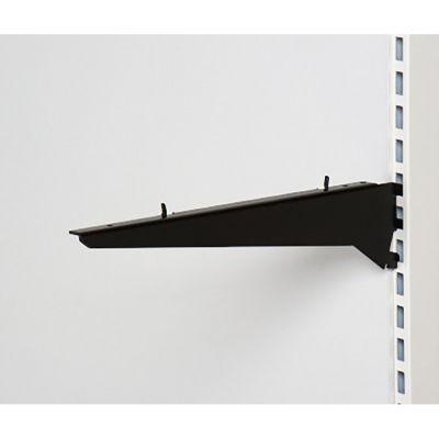 Hyldeknægt for træhylder 40 cm | Sorte