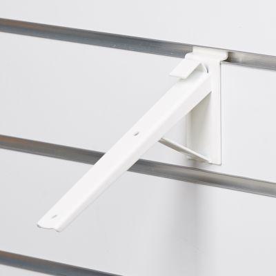 Hyldeknægt for rillepanel skrå i hvid - 21 cm