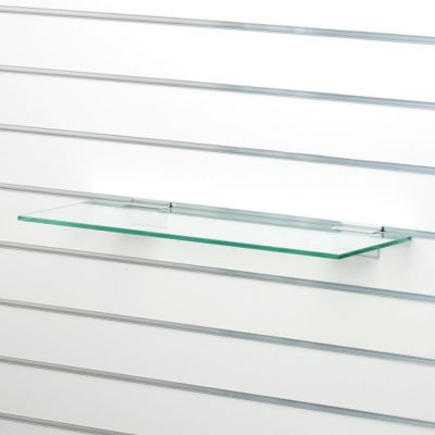 Hyldeplade i glas 40x35 cm t/ rillepanel