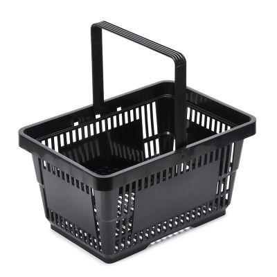 Indkøbskurv - kundekurv 22 L sort plast