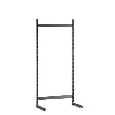 Gondol i grå - H200xB90 cmbestår af afstandsstykker, inventarsøjler og L-ben