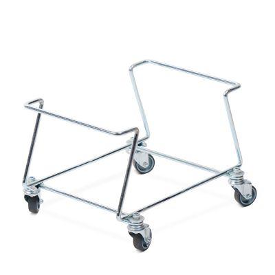 Vogn til indkøbskurve i kraftig metal.