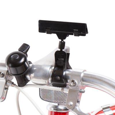 Skilteklemme til prisskilt - for cykelstyr - sort plastmål B 8 cm - kan kun købes i kolli á 10 stk.