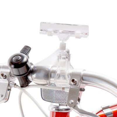 Skilteklemme til prisskilt - for cykelstyr - klar plastmål B 8 cm - kan kun købes i kolli á 10 stk.
