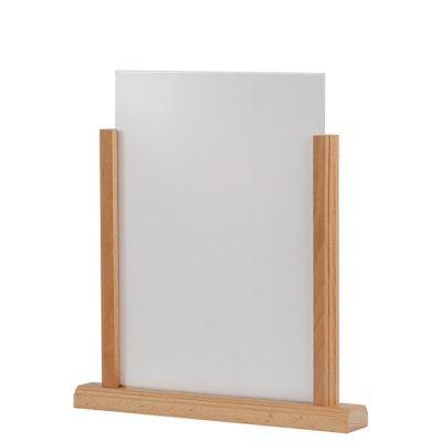Menuholder til bord med A4 akryl skilte