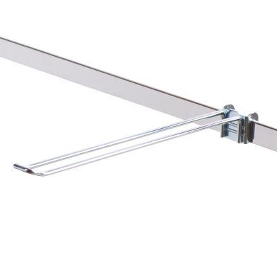 Varekrog dobbelt - 27 mm bred udvendig på spyddetmål L30 cm - trådtykkelse Ø5 mm - passer til 6 mm skinne