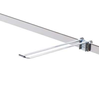 Varekrog dobbelt - 27 mm bred udvendig på spyddetmål L25 cm - trådtykkelse Ø5 mm - passer til 6 mm skinne