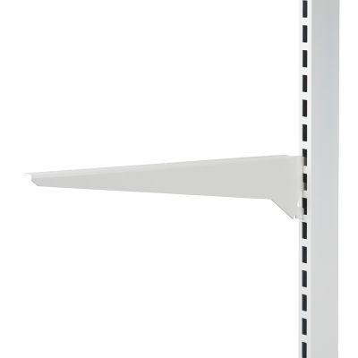 Hyldeknægt for glashylde hvid lak - 40 cm