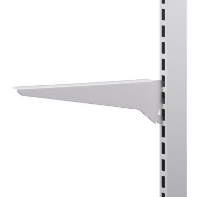 Hyldeknægt for glashylde hvid lak - 30 cm