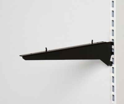 Hyldeknægt for træhylder sorte - 40 cm