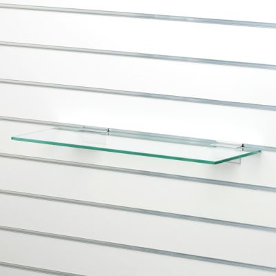 Glashylde i klart glas til glasskab - findes i 3 forskellige farvermål L58xD25 cm - tykkelse 8 mm