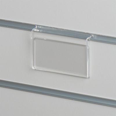 Pris skilteholder i klar akryl for panelpladerpasser til datablad papir i L10xH5 cm