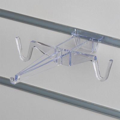 Brilleholder til 1 brille eller solbrille i støbt klar akryl