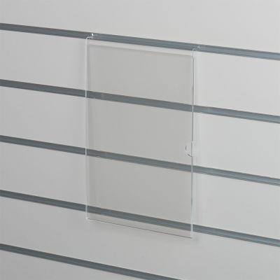 Skilteholder i klar akryl for panelplader - A4 ståendepasser til format 21,0 x 29,6 cm papir