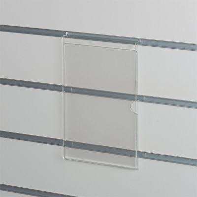 Skilteholder i klar akryl for panelplader - A5 ståendepasser til format 21,0 x 14,8 cm papir