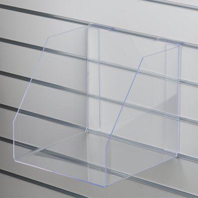 Akryl boks for rillepanel uden forkant - kraftig plexiglasmål indvendig B31xH30xD30 cm