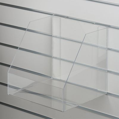 Akryl boks for rillepanel med forkant - kraftig plexiglasmål indvendig B31xH30xD30 cm