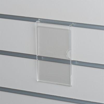 Skilteholder i klar akryl for panelplader - A6 ståendepasser til format 10,5 x 15 cm papir