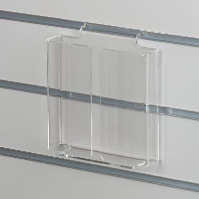 Brochureholder i opbukket klar akryl for rilleplader - A5 lodret